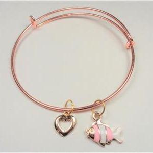 Jewelry - NAUTICAL ROSE GOLD ANGELFISH AND HEART BRACELET